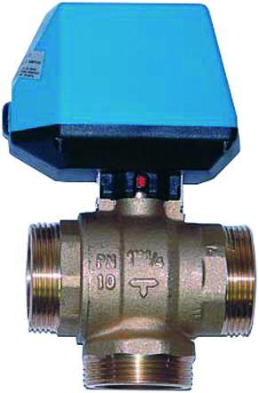 IDM 3-Weg-Weichenventil 5/4 Zoll mit Motor u.Kabel für Vorangschaltung
